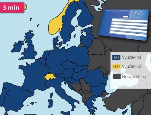 Modrá kartička zdravotního pojištění v zemích EU