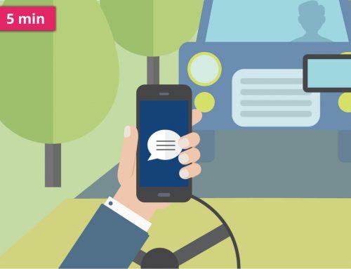 Používání telefonu při řízení