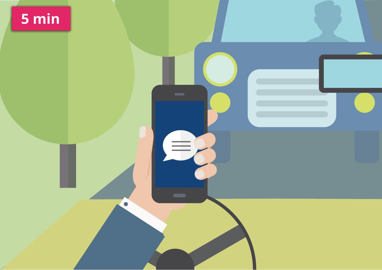 telefon v autě